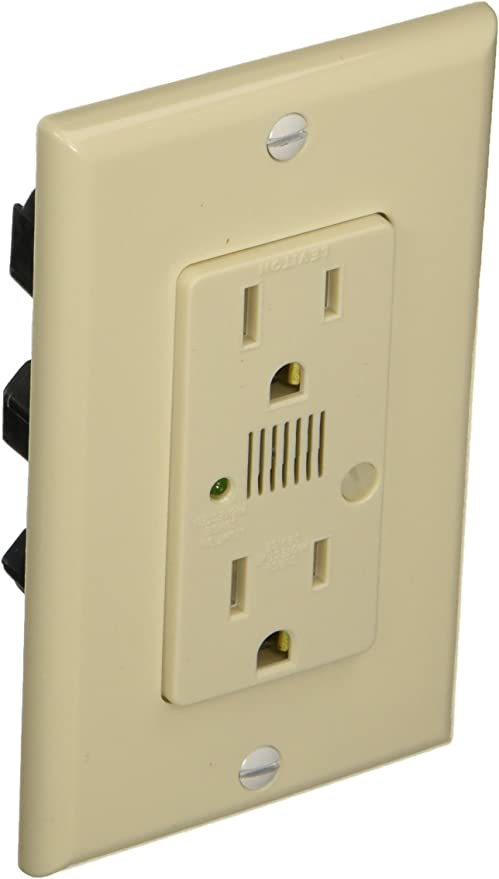 15-Amp Wood Smoke Leviton RGF15-WS Renu Self-Test Tamper-Resistant GFCI Outlet