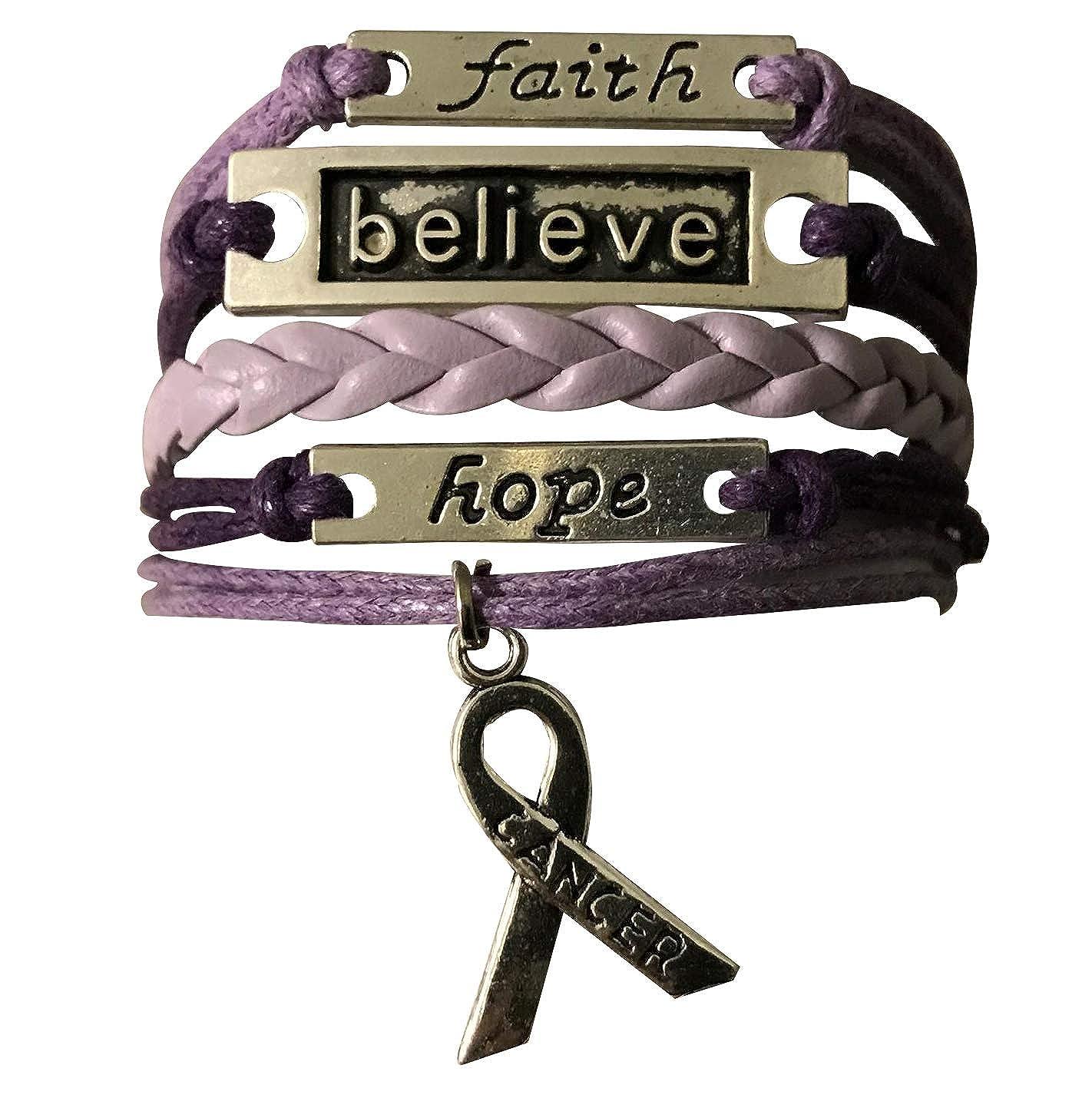 Infinity Collection Cancer Awareness Purple Ribbon Bracelet Pancreatic Cancer Bracelet Awareness Bracelet Makes The