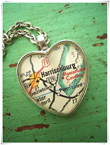Amazon Com A Little Little Love Custom Map Jewelry Harrisonburg