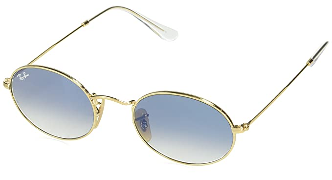6ea55423593360 RAYBAN Unisex s 0RB3547N 001 3F 51 Sunglasses, Arista Crystal White Grad. Blue