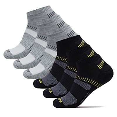 .com : BERING Men's Performance Athletic Ankle Running Socks Comfort Fit Tab Socks (6 Pair Pack) : Clothing