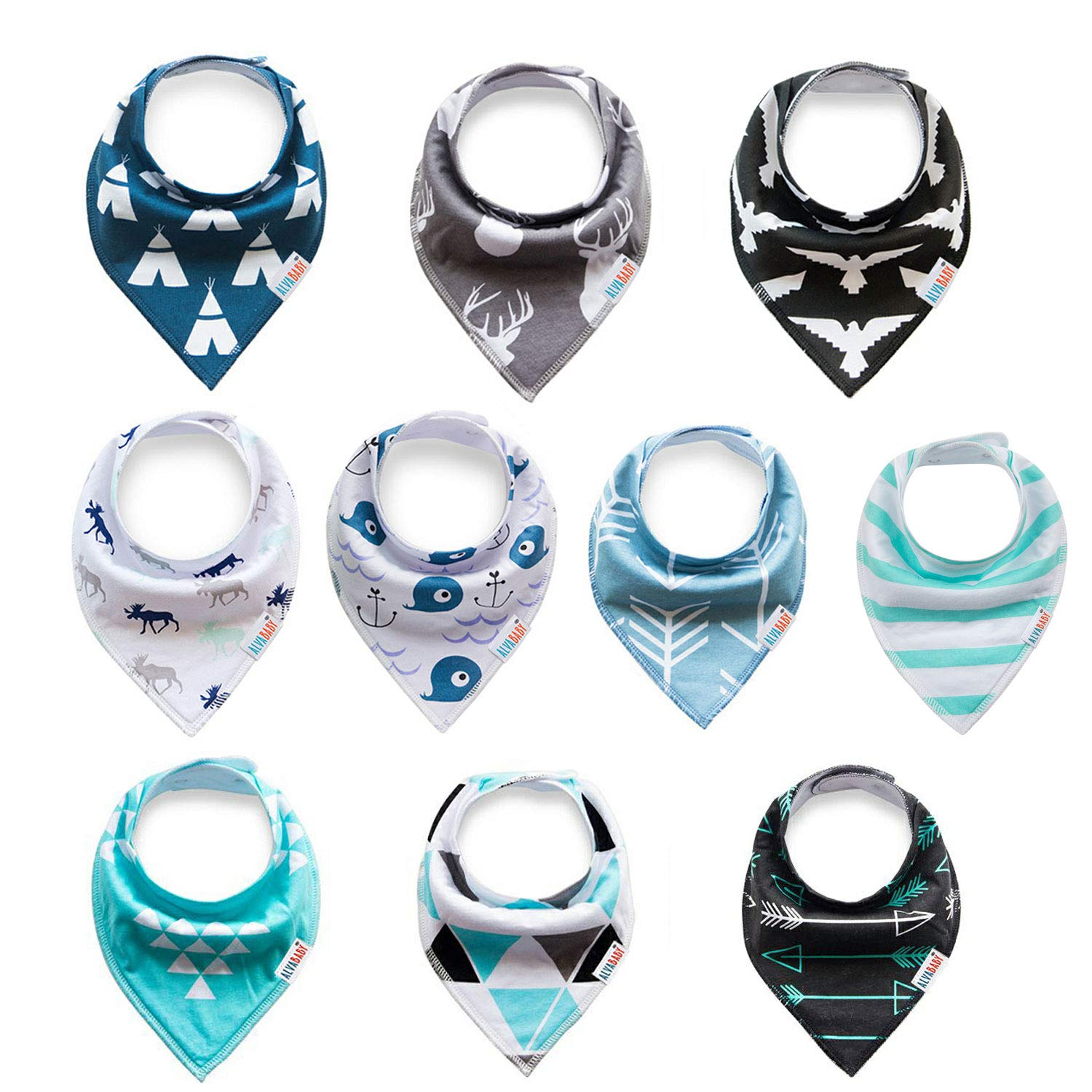Girl sets 04 ALVABABY Baby Bandana Drool Bibs for Boys and Girls 4//8 Pack of Super Absorbent Baby Gift Settings