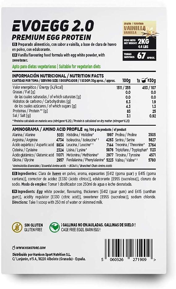 Proteína de Huevo de HSN Evoegg 2.0   100% Albúmina de Huevo ...