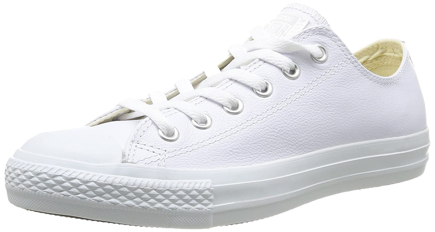 Converse Chuck Taylor All Star Leather Ox B004LCH8YE 4.5 D(M) US|White