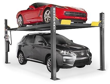 Amazon com: BendPak 4-Post Extra-Tall Car Lift - 9000-Lb  Capacity