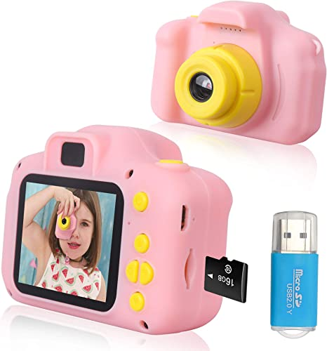 Rindol Toys for 4-9 Year Old Girls,Kids Camera Compact for Child Little Hands