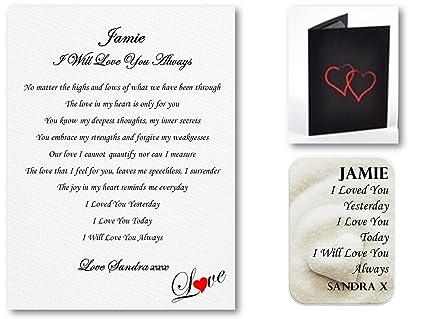 De estilo romántico con placa personalizable en inglés para y una tarjeta de juego de peluches