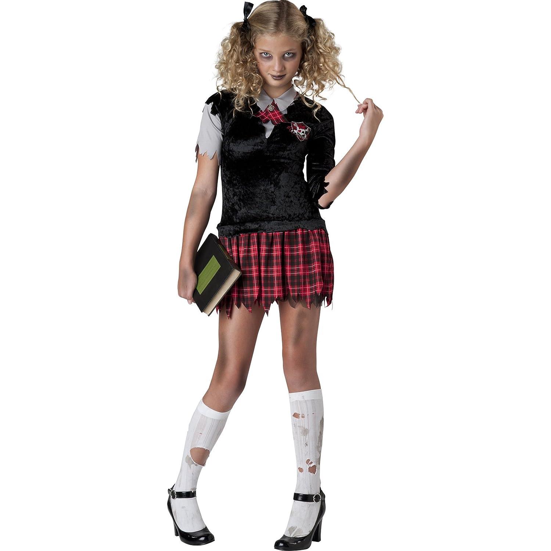b7cacc5c7 TWEEN Girls Teen Deluxe Zombie Schoolgirl Halloween Fancy Dress Costume  (10-12 years): Amazon.co.uk: Toys & Games