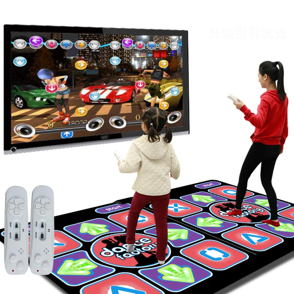 WEWE Wireless Dance Mat,Children Dance Revolution Foldable Dance Pad Fitness Dancing Blanket Hd Tv Computer Dual-a 164x93cm(65x37inch) by WEWE (Image #1)