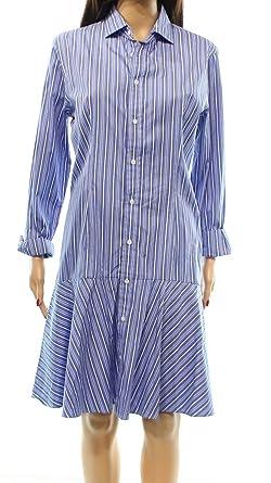 Polo Ralph Lauren Womens Striped Drop Waist Shirtdress at Amazon Women\u0027s  Clothing store:
