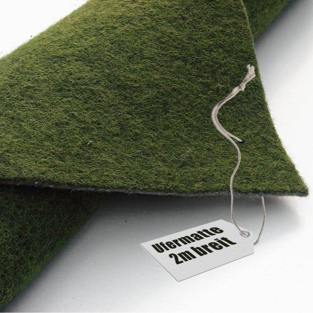 Ufermatte grün 200cm breit | 15m lang