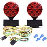 CZC AUTO 12V LED Magnetic Towing Light Kit for Boat Trailer RV Truck - Magnetic Strength 55 Pounds