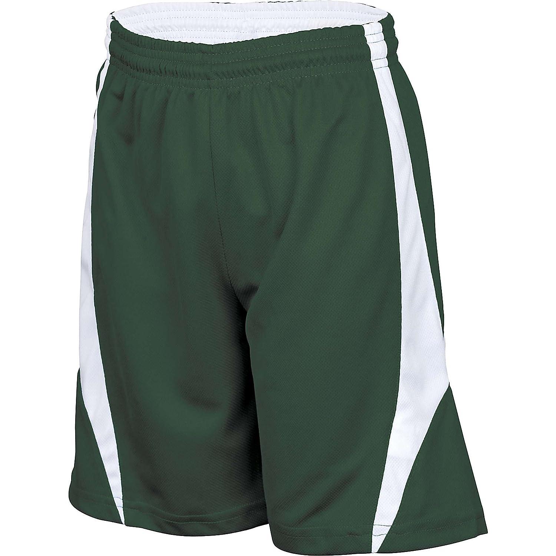 Alleson Youth Reversible Basketball Shorts – ダークグリーン/ホワイト – 中   B003WYKAZG