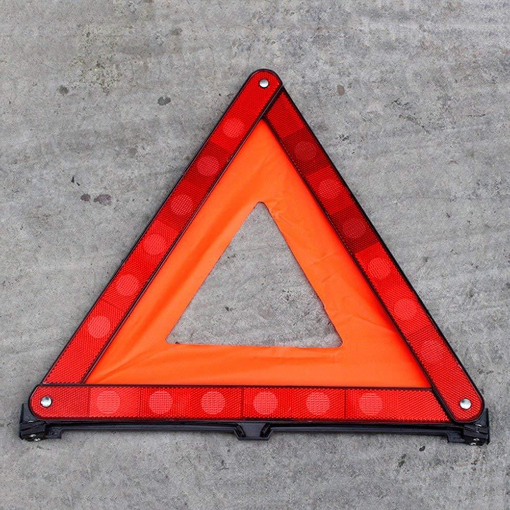 RoadRoma Pr/áctico Tri/ángulo Reflectante de Advertencia de Emergencia para autom/óvil Tr/ípode Reflectante Plegable