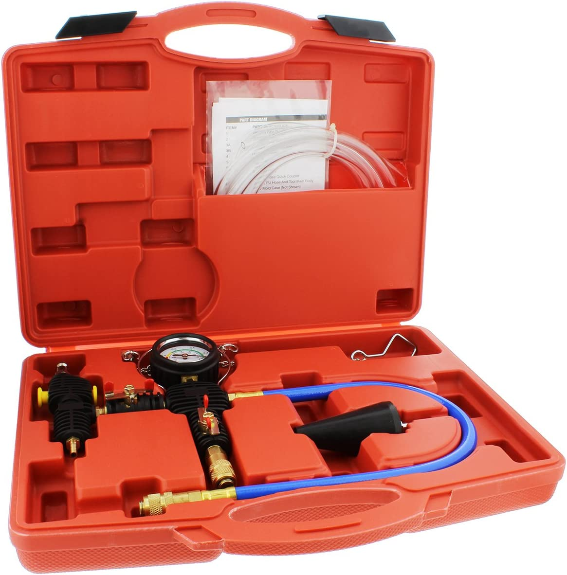 ABN Cooling System Vacuum Purge and Refill Kit with Carrying Case – Car, SUV, Van, Light Truck Radiator