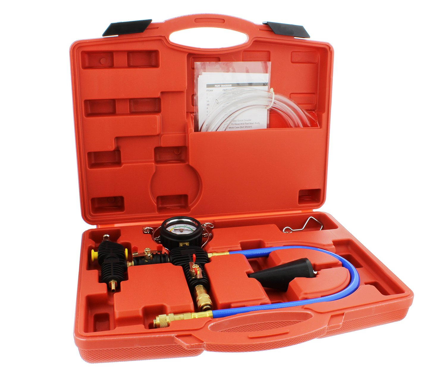 ABN Cooling System Vacuum Purge and Refill Kit with Instructions and Carrying Case – Car, SUV, Van, Light Truck Radiator