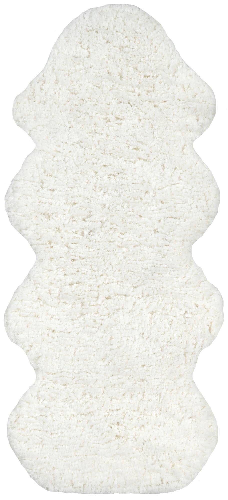 "nuLOOM Faux Sheepskin Matix Shag Rug, 2' x 4' 5"", Natural - Style: Shags Color: Natural Material: 100% Polyester - living-room-soft-furnishings, living-room, area-rugs - 71hKaa TpQL -"
