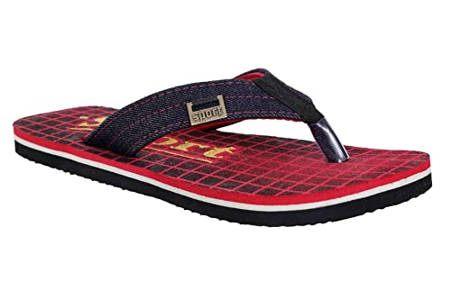 bfdf613d259 Altek Soft Comfort Green Mehendi Red Color Flip Flops for Men ...