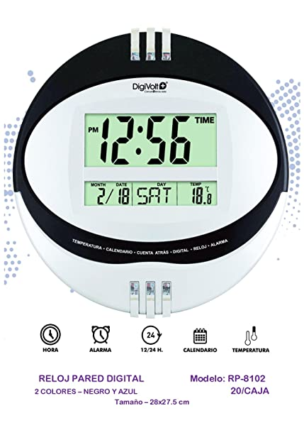 DIGIVOLT RP8102 RELOJ DE PARED DIGITAL