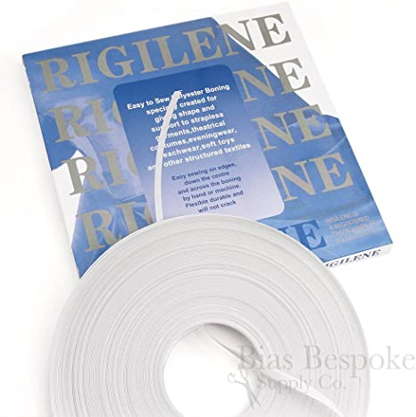 Item4ever 24 Meter White Cotton Covered Poly Polyester Boning 1//4