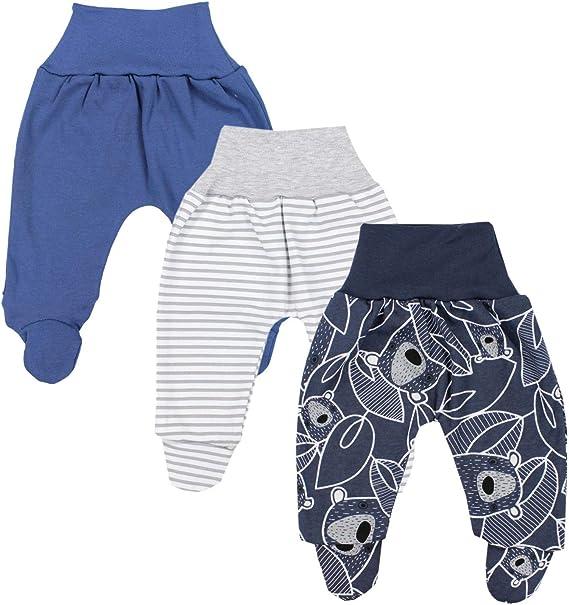 3 Pezzi TupTam Pantaloni con Piedini da Neonato per Bambino