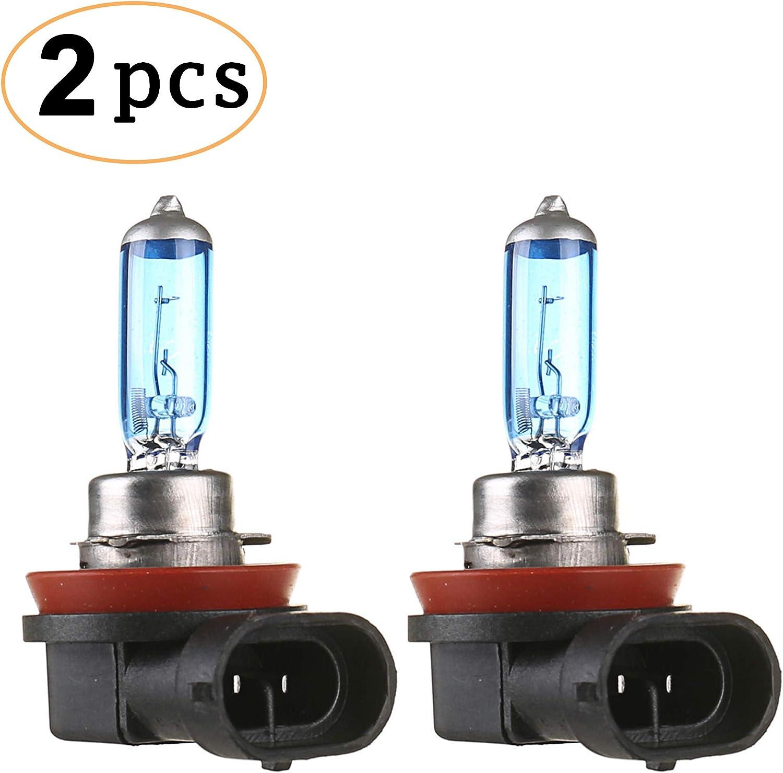 CK FORMULA (Set of 2) H11 Halogen Bulbs (Fog Light) 12V 100W 5000K Super White Light, PGJ19-2 Base