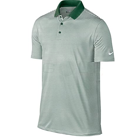 2cd431e7f7 Image Unavailable. Image not available for. Color: Nike Golf Victory Mini  Stripe Polo (Gorge Green/White) ...