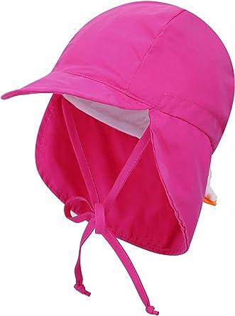Livingston Kid's SPF 50+ UV Sun Ray Protective Safari Hat w/Neck Cover Sun Hat for Baby