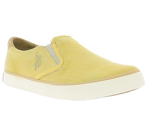 d3c2540a US Polo Association - Zapatillas de Tela Para Mujer Amarillo ...