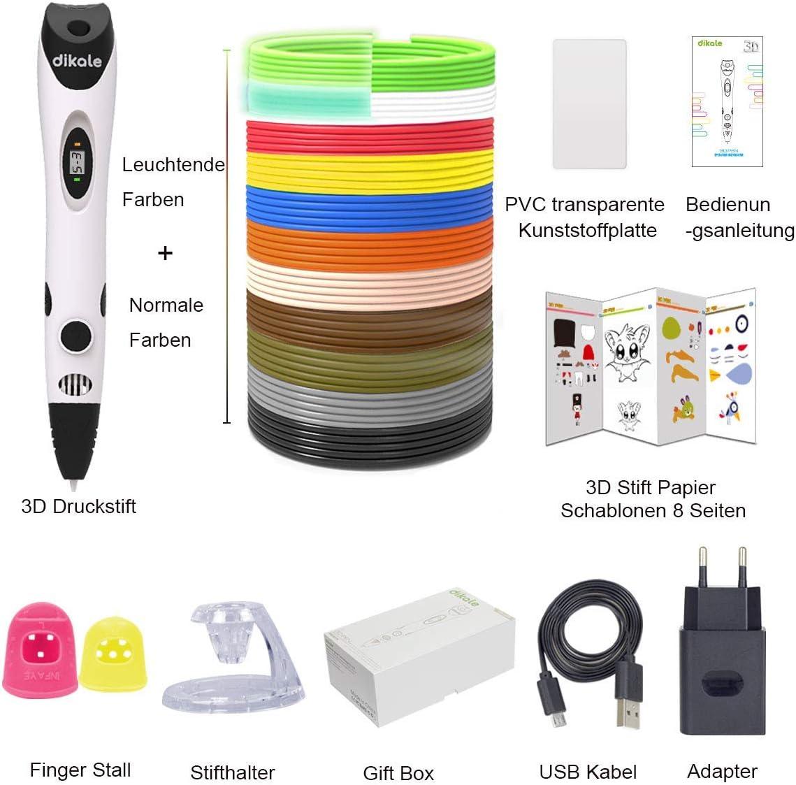 Juego de lápices 3D para niños con PLA 12 colores – 【Versión de ...