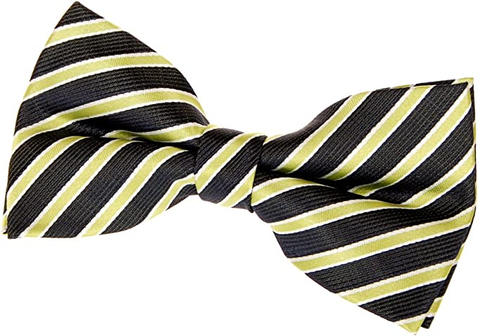 Various Colors Retreez Striped Woven Pre-tied Bow Tie 4.5