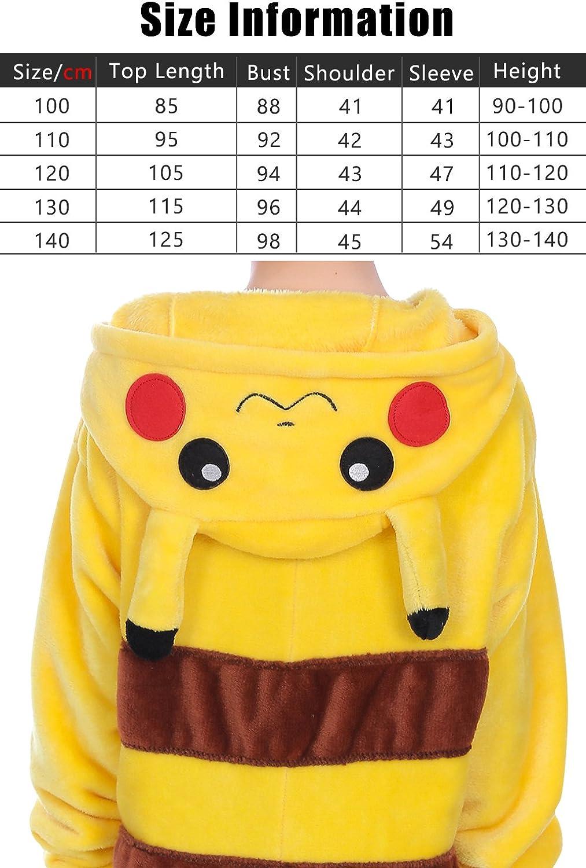 Dolamen UK Pigiama Intero Ragazza Pikachu Altezza 110//120 cm