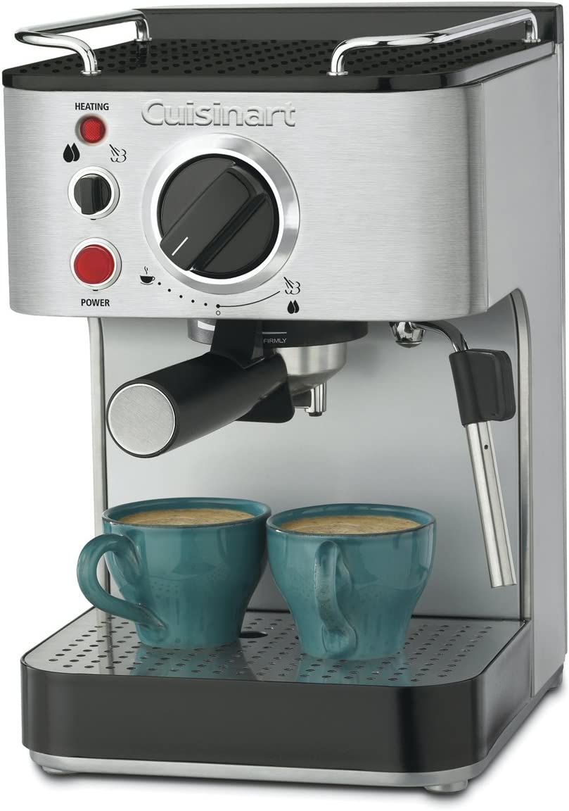 "Amazon.com: Cuisinart EM-100NP1 1.66 Quart Stainless Steel Espresso Maker, 12.56""(L) x 8.19""(W) x 10.94""(H), Silver: Steam Espresso Machines: Kitchen & Dining"