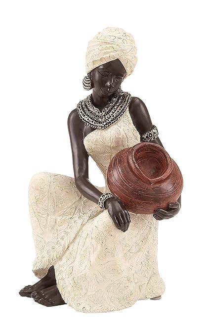 Benzara polipiedra de Tablero de la Mesa Figura Escultura Africana, 10 por 15,24