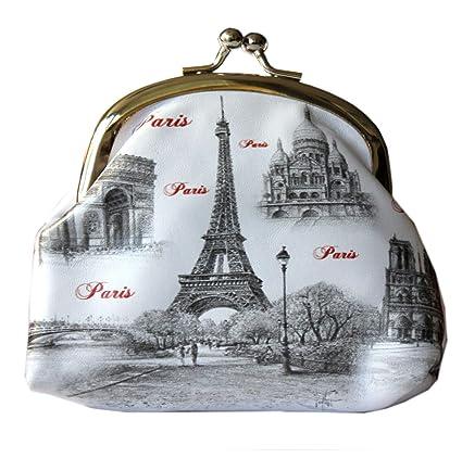 Monedero de PVC Decorado con monumentos de París en Blanco y ...