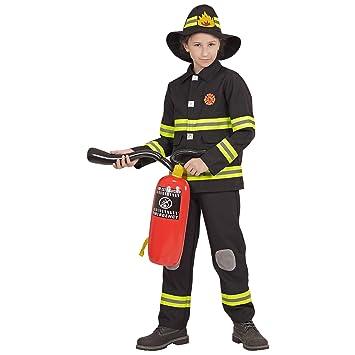 WIDMANN 96798 infantil Disfraz de bombero, joven, negro ...