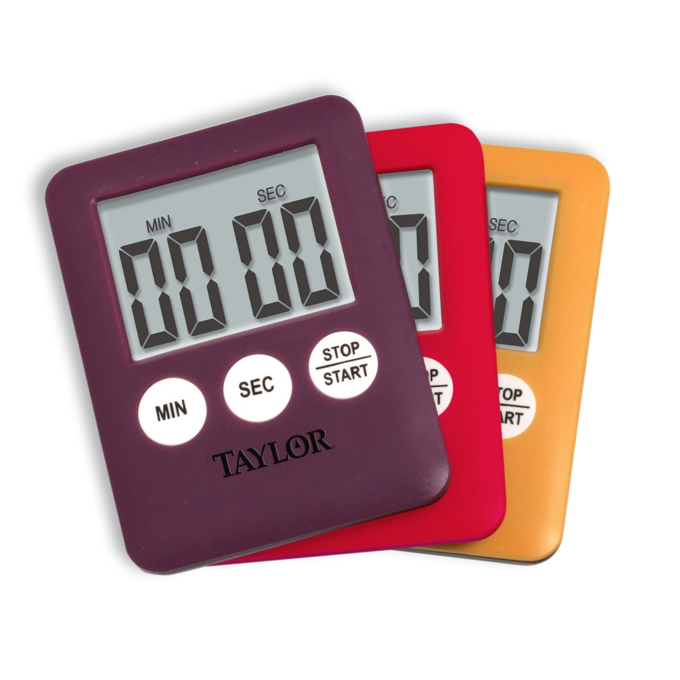 taylor mini digital kitchen timer assorted colors