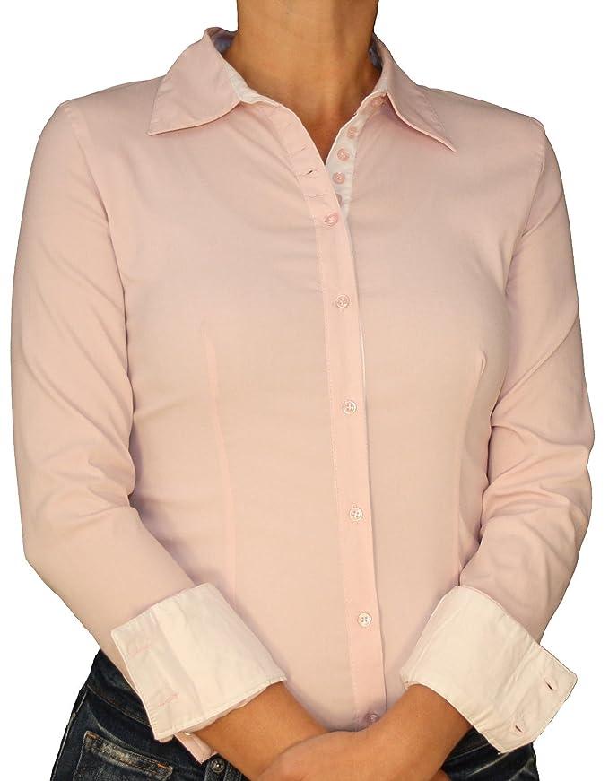 15b35d773a Extra Me 6011 Damen Stretch Bodys Blusen Bodybluse Blusenbody Farbe Rosa  Konfektionsgröße 42 Internationale Größe XL rosa XL/42: Amazon.de:  Bekleidung