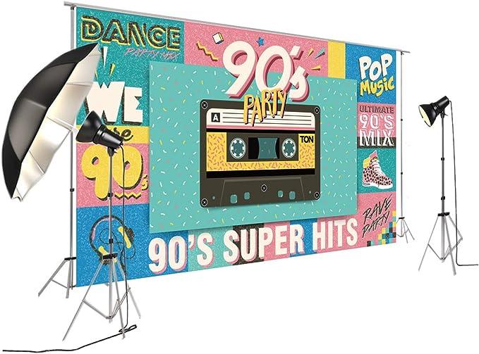 Back To 90 S Super Hits Pop Party Banner Hintergrund Kamera