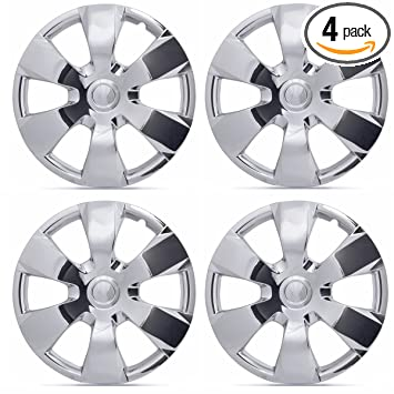 BDK KT-1000-16-C_King1 Chrome 16 Hubcaps Wheel Covers for Toyota Camry (16 inch) – Four (4) Pieces Corrosion-Free & Sturdy – Full Heat & Impact ...