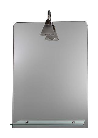 Relativ Badspiegel mit Ablage und Beleuchtung 700 x 500 cm - Lampe Nr. 1  RO43