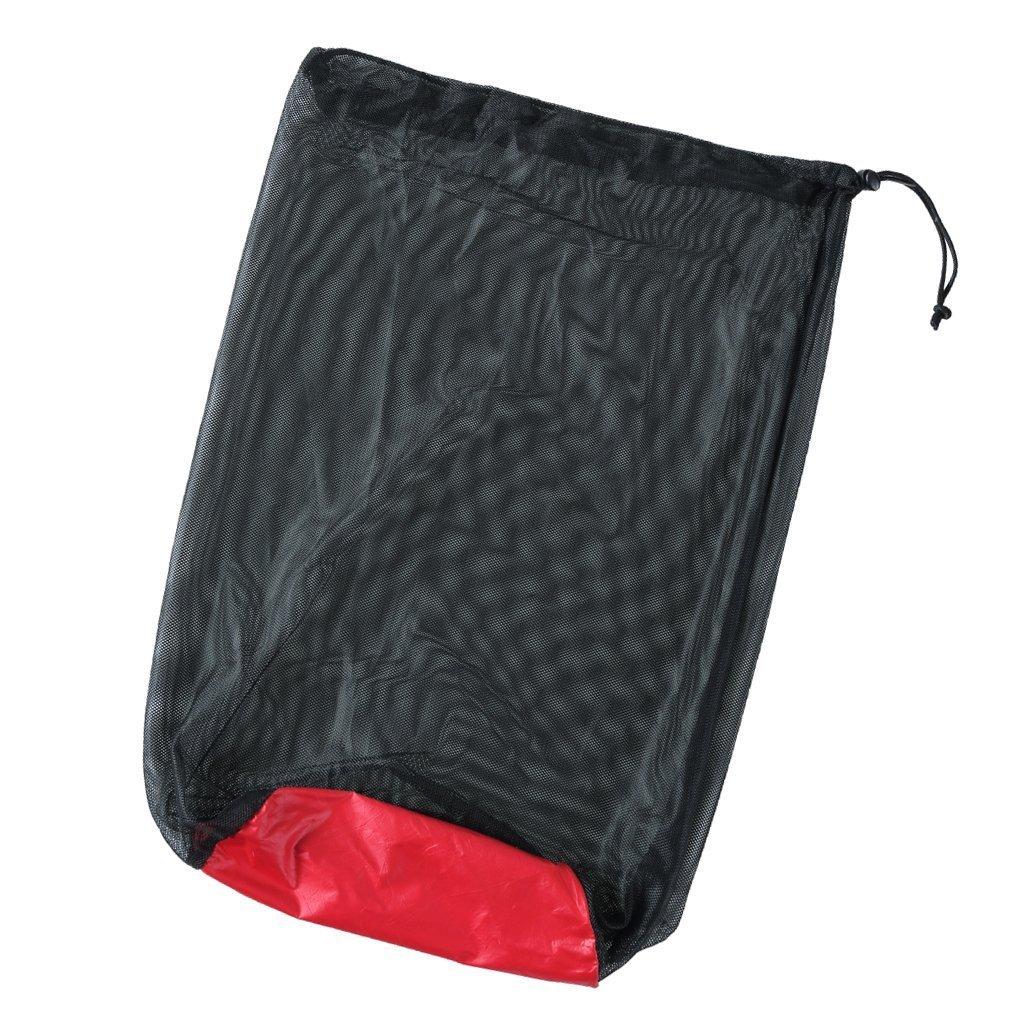 SGerste Ultra léger en maille filet Sac de rangement Sac de rangement pour Tavel (Camping Pochette Noir