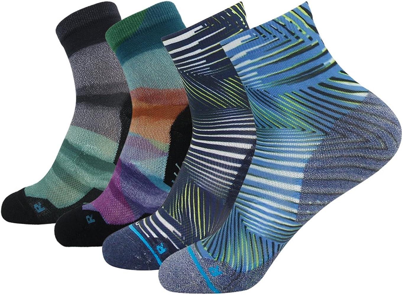 Wicking Crew Ankle Running Socks