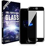 iPhone7 (4.7インチ) 用 ガラスフィルム 3D 全面 曲面 熱曲げ 全面保護 9H 飛散防止 液晶ガラス 高透明 iPhone 7 対応 (ブラック) BHG-I7-BLK037