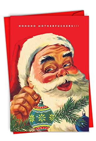 Amazon Com Hohoho Mothers Humorous Christmas Card Showing A