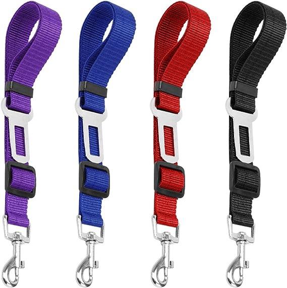 4 Pack cinturón de seguridad ajustable perro de mascota gato ...