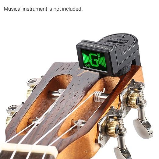ammoon AT-08 Mini LCD Digital Clip-on Afinador para la Guitarra Eléctrica Acústica Bajo Ukulele Violín Cromática: Amazon.es: Instrumentos musicales