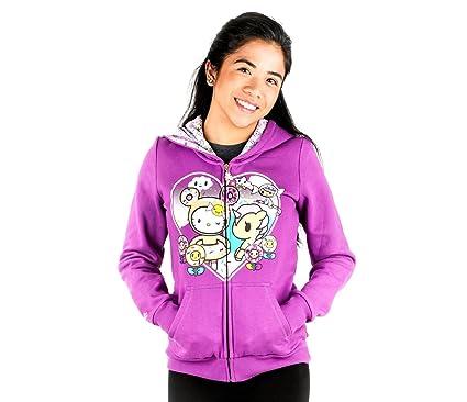 c5320d041 Amazon.com: Tokidoki x Women's Hello Kitty Sweet Heart Kitty Hoodie ...