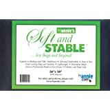 ByAnnie's Soft and Stable Fabric, 36 by 58-Inch, Black