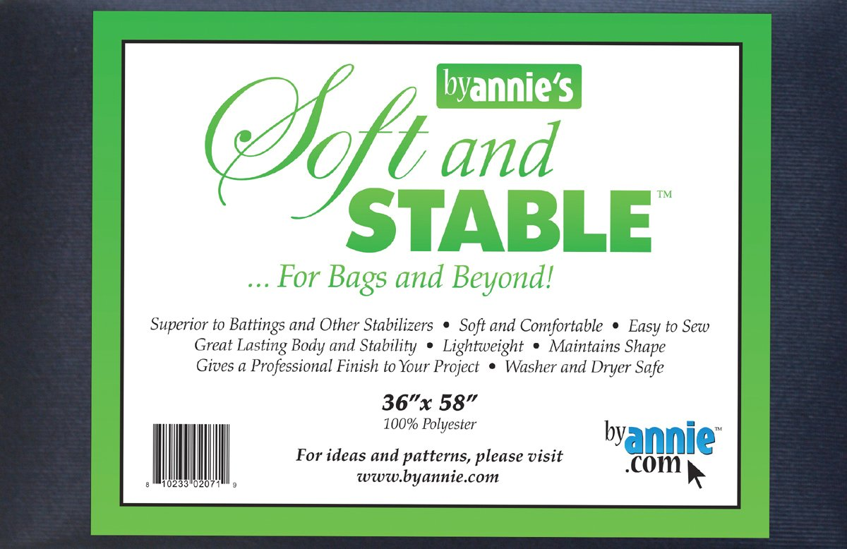 By Annie Soft and Stable Fabric, 36 by 58-Inch, Black S&S1036